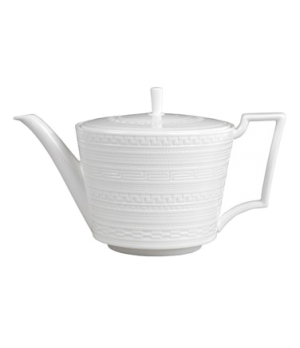 Intaglio Teapot, dishwasher safe, bone china, white (priced per case, packed 6 e