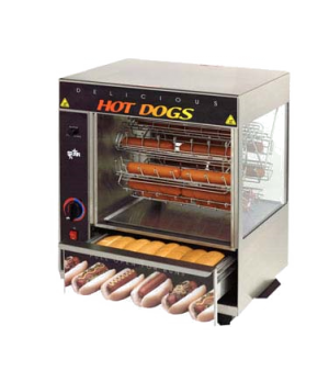 Broil-O-Dog Hot Dog Broiler, cradle type rotisserie, cap. 36 dogs & 32 buns, ove