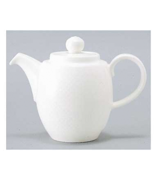 Coffeepot #7, 10-1/4 oz., with lid,  premium porcelain, Easy White (DE Stock)