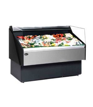 "Hydra Kool Seafood On Ice Case, open front, self serve, multiplexible, 117""W x 4"