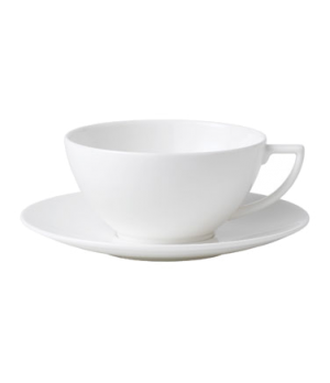 "Jasper Conran Tea Saucer, 6-1/4"" dia., round, dishwasher safe, bone china, white"