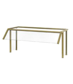 """NSF2 (2011) Traditional Breath Guard, single-sided buffet with top shelf, 1/4"""" t"""