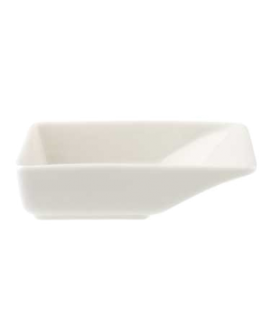 "Bowl, 3-7/8"" x 2-3/8"", 1-1/4 oz., rectangular, premium porcelain, Pi Carre"