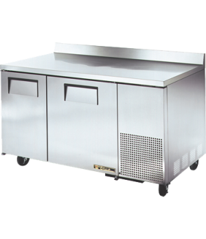 Deep Work Top Freezer, two-section, (4) shelves, 16 ga. stainless steel top, (2)