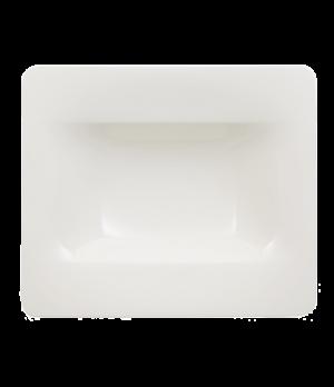 """Rim Soup Plate, 8-3/4 oz., 9-1/2"""", rectangle, premium bone porcelain, Modern Gra"""
