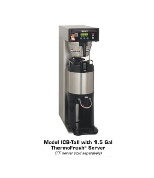 36600.0005 ICB-DV Infusion Series® Coffee Brewer - Tall, automatic, single brewe