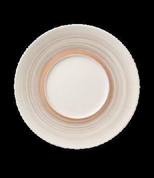 "Plate, 11-3/8"" dia. (5-3/4"" well), round, flat, premium porcelain, Amarah Taupe"