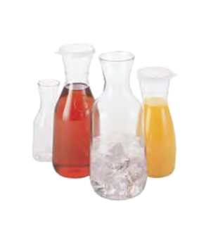 "Camwear® Camliter®Beverage Decanter, 1 L, 9-3/4""H, polycarbonate, clear, chip &"