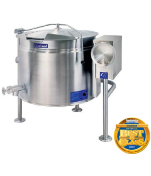 Short Series™ Steam Jacketed Kettle, Electric, Tilting, 40-gallon capacity, full
