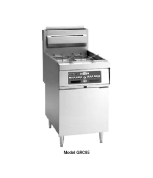 "Fryer, Gas, 21""W, free-standing, 150,000 BTU, stainless steel cabinet and 19-1/2"