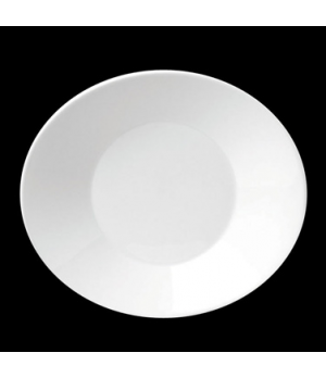 "Joy Plate, 17 oz., 9-3/8"" X 8"" (4-5/8"" deep well), oval, porcelain, Tria, Simple"