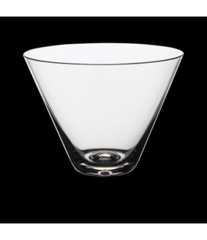Martini Glass, 13-1/2 oz., Rona, Stemless (USA stock item) (minimum = case quant
