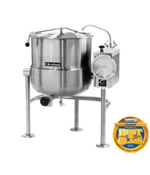 Kettle, Direct Steam, Tilting, 100-gallon capacity, 2/3 steam jacket design, mou