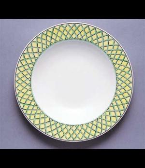 """Rim Soup Plate, 9"""", 13 oz., deep, premium porcelain, French Garden-Choisy (Speci"""