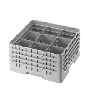 """Camrack® Glass Rack, with 4 extenders, full size, 9 compartments, 5-7/8"""" max. di"""