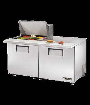 """ADA Compliant Mega Top Sandwich/Salad Unit, (12) 1/6 size (4""""D) poly pans, stain"""