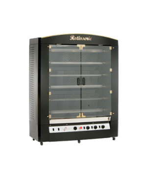 Rotisserie Broiler, gas, (6) stainless steel skewers, 36 - 42 chicken capacity,