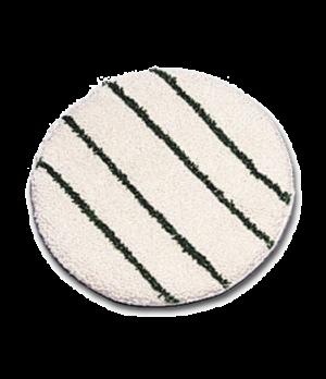 "Bonnet, 19"" dia, low profile with scrub strips, white/green strips"