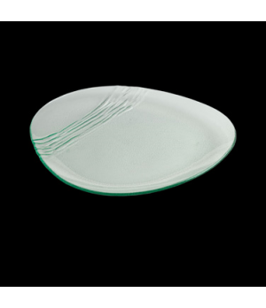 "Specialty Organics Plate 14"", glass, Creations (USA stock item) (minimum = case"