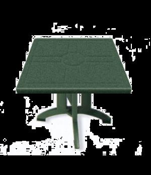 "Vega Folding Table, 32"" square, with umbrella hole, UV resistant resin, Amazon g"