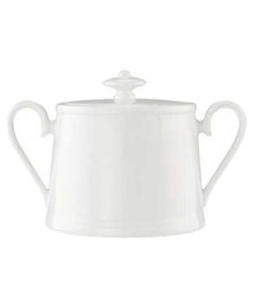 Sugar Bowl, 11-3/4 oz., with cover, premium bone porcelain, Stella Hotel