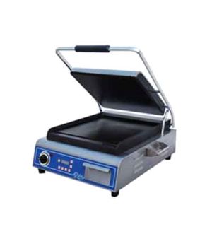 Sandwich/Panini Grill, single, countertop, electric, cast iron smooth plates, 14
