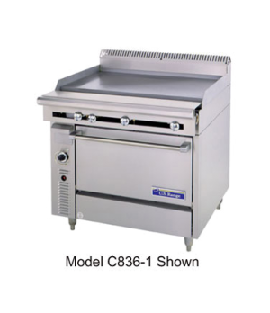 "Cuisine Series Heavy Duty Range, gas, 36"", (1 griddle with 1"" thick steel plate,"
