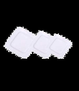 "Plate, 6-1/2"" (17 cm), square, wide rim, scratch resistant, oven & microwave saf"