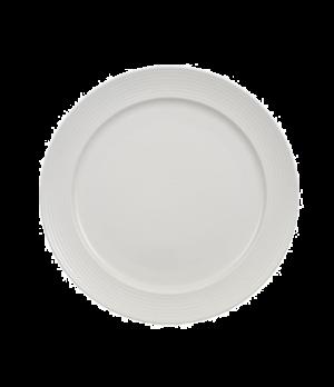 "Plate, 11-3/8"" x 8-5/8"" well, premium porcelain, Marchesi-Perimeter"