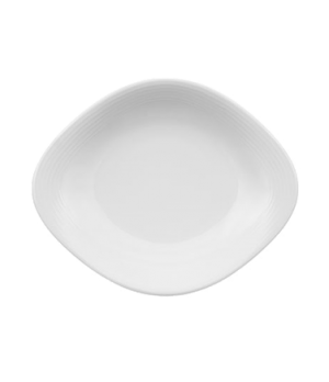 "Plate, 10-1/4"" x 8-1/4"", oval, premium porcelain, Sedona"