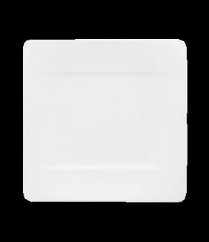"Plate, 9"" x 9"", square, premium bone porcelain, Modern Grace"