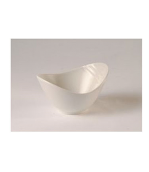 "Bowl, 8 oz., 6"" dia., round, tall, Distinction, Organic, Organics White (priced"