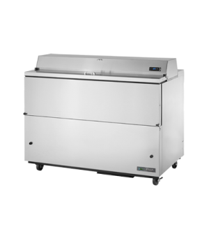Mobile Milk Cooler, FORCED-AIR, (16) crates, stainless steel drop front/hold-ope