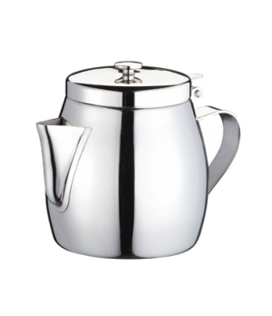 Teapot, 10 oz., stackable, 18/8 stainless steel