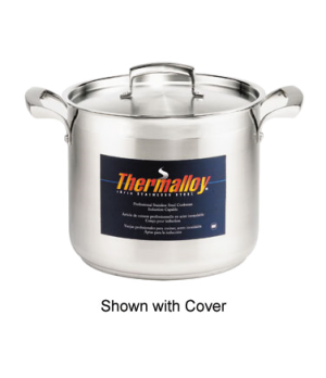 "Thermalloy® Stock Pot, 8.3 qt., 8-1/2"" dia., round, without cover, stay cool ri"