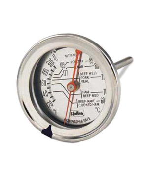 "Meat Thermometer, 2-3/8"" dial, 5""L, temperature range 120° to 220° F (-60° to"