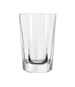 "Beverage Glass, 14 oz., DuraTuff®, INVERNESS, (H 5-1/4""; T 3-1/2""; B 2-5/8""; D 3"