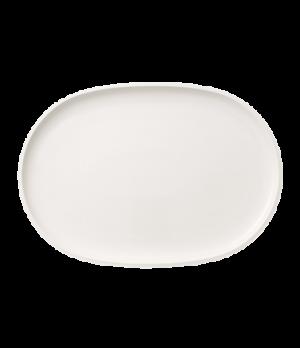 "Fish Plate, 16-15/16""L x 11-7/8""W, oval, white, premium porcelain, Artesano"