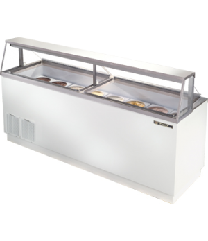 Dipping Cabinet, -10°F to 8°F, white vinyl clad exterior, white powder coated st