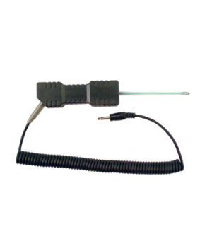 "Probe, aluminum tip, 3"" (7.62cm) polycarbonate shaft length, .152"" (.386cm) shaf"