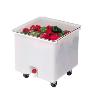 Camcrisper®, Vegetable Crisper, mobile, molded polyethylene with sliding cover,