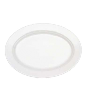 "Pickle Dish/Plate, 8-1/4"" x 6-3/4"", small, oval, premium porcelain, Corpo White"