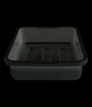 """Cambox®, 15-5/16""""L x 19-15/16""""W x 4-15/16""""H, hi-impact plastic, black, NSF"""