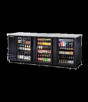 "Back Bar Cooler, three-section, 37"" high, (152) 6-packs or (4) keg capacity, (6)"