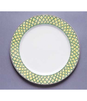 "Plate, 11-3/8"", flat, premium porcelain, French Garden-Choisy (Special Order)"