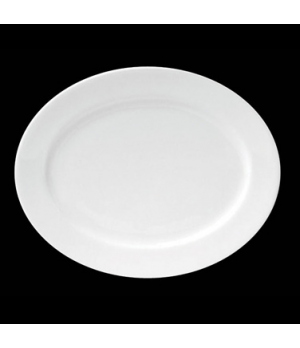 "Plate, 8-1/4"" X 7"", oval, porcelain, Tria, Simple Plus (minimum = case quantity)"