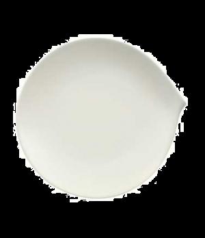 """Plate, 9"""" x 8-5/8"""", flat, premium porcelain, Flow"""