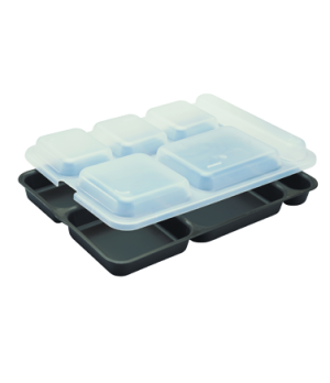 "Tray Lid, fits 6-compartment Separator® tray, 10"" x 14-5/32"" x 1-5/32"", transluc"