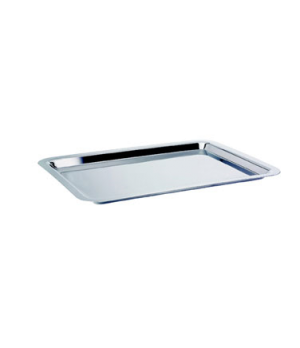 "Tray, 20-7/8"" x 12-3/4"", oblong, stainless steel, La Tavola, Café and Club Hollo"