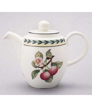 Coffeepot #7, 10-1/4 oz., with lid, premium porcelain, French Garden-Dampierre (